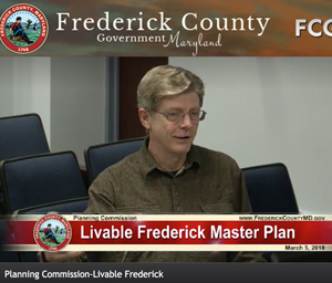 My comments to the Frederick County Planning Commission at public hearing on the Livable Frederick Master Plan